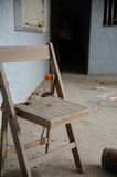 Old Chair. Left by people royalty free stock photos