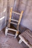 Old chair. On western movie set Stock Image