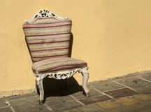 Old chair in baroque style Royalty Free Stock Image