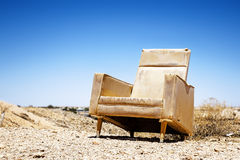 Old chair outdoor Stock Photography