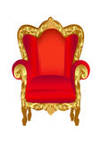 Old chair red with gold Stock Photography