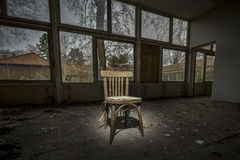 Old chair in ruined building Royalty Free Stock Photography