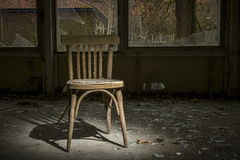 old chair in ruined building Stock Image
