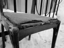 Old chair in the street royalty free stock image