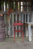 Old Chair and table outdoor Royalty Free Stock Image