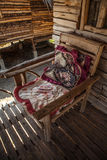 Old chair in Thailand house Stock Photography