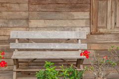 Old chair wood background Royalty Free Stock Images