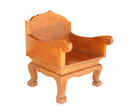 Old chair Wood, Isolated with clipping path. Royalty Free Stock Images