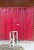 Old Chair and Wooden Door. Stock Images