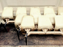 Old chairs be left Royalty Free Stock Images