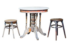 Old chairs and old table Royalty Free Stock Photo