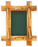 Old chalk board with wood frame Stock Images