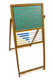 Old chalkboard with abacus Royalty Free Stock Image