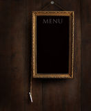 Old chalkboard with copy space Royalty Free Stock Photo