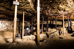 Old chamber in a Silver Mine, Tarnowskie Gory, UNESCO heritage site Royalty Free Stock Photo