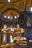 Old chandeliers in Hagia Sophia Stock Photos
