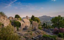 Old chapel and Bar fortress ruins stock photos