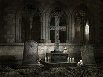 Old chapel with candles at night Stock Photography