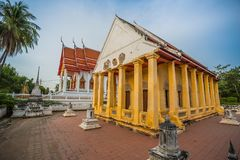 Old chapel in Chinese style of Thai temple, Wat Bang Pla - Samut Sakhon, Thailand. Old chapel in Chinese style of Thai temple, Wat Bang Pla in Samut Sakhon stock photography