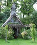 Old Chapel. I drove past this overgrown Wedding Chapel and just thought it was so beautful Stock Photos