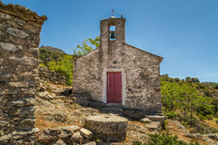 Free Old Chapel In Abandoned Village Of Casenove In Corsica Royalty Free Stock Photo - 94121745