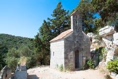 Old chapel on the little island St. Marija Stock Image