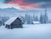 Old chapel in the mountains Stock Image