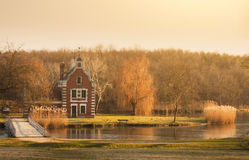 Old chapel in the park. Old chapel in the autumn park Royalty Free Stock Images