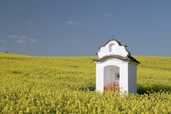 Old chapel in the field Royalty Free Stock Photography