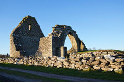 Old chapel ruin. An ancient chapel ruin from the 13th century on the island Oland in the Baltic Sea royalty free stock photography