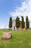 Old Chapel and Well in Tuscany Stock Photos
