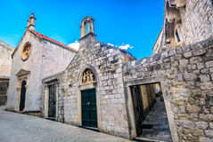 Old chapels in Dubrovnik, Croatia. Royalty Free Stock Images