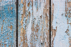 Old chapped blue wooden background Royalty Free Stock Photos