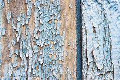 Old chapped blue wooden background Stock Image