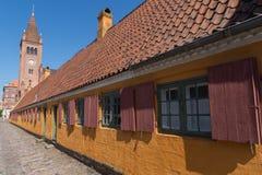 Old characteristic row houses in Copenhagen, Denmark Royalty Free Stock Photo