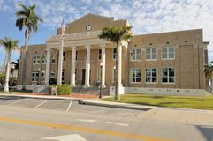 Old Charlotte County Courthouse Punta Gorda FL. The old charlotte county courthouse in Punta Gorda FL is on the national registry of historiic places.  It was Royalty Free Stock Photos