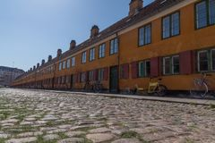 Old charming row houses in Copenhagen, Denmark Royalty Free Stock Photography