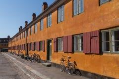 Old charming row houses in Copenhagen, Denmark Royalty Free Stock Image