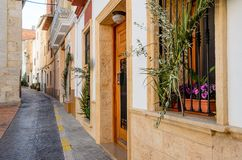 Old charming streets, Spain Stock Photo