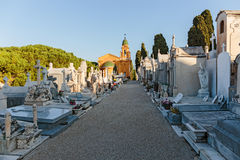 Old Chateau Cemetery in Nice on Castle Hill Stock Images