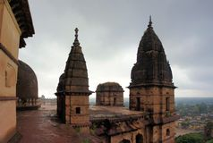 Old Chaturbhuj Hindu Temple, Orchha, India Royalty Free Stock Photos