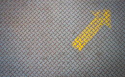 Old checkered steel plates texture with Arrow Stock Photos