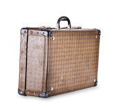 Old checkered suitcase Royalty Free Stock Image