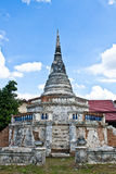 Old chedi. The old thai style chedi in ayutthaya period stock images