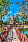 Old chedi (Buddhist stupa) in Sukhothai, Thailand Royalty Free Stock Image