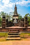 Old chedi,Buddhist stupa, in Sukhothai, Thailand Stock Photo