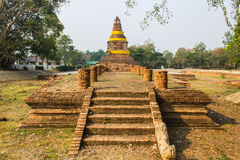 Old Chedi in Wiang Kum Kam, Ancient City Royalty Free Stock Photos
