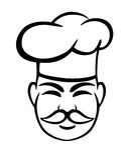 Old chef ni toque Stock Photo