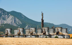 Old chemical plant Stock Photos