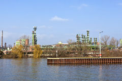 Old Chemical Plant At River Main Royalty Free Stock Images